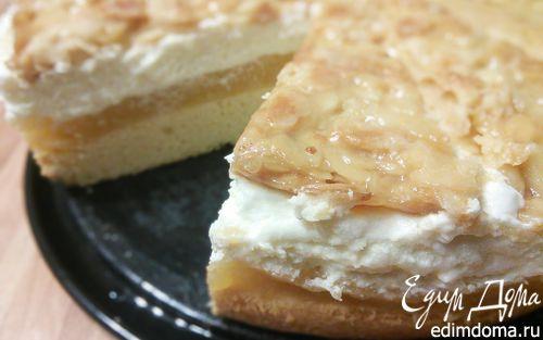 Рецепт Яблочный торт с миндальным крокантом