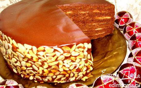 """Рецепт Шоколадно-банановый торт """"Антидепрессант"""""""
