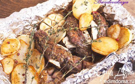 Рецепт Баранья лопатка, запеченная с розмарином