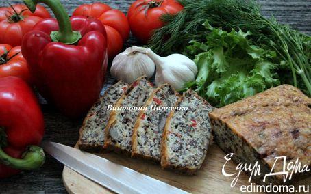 Рецепт Запеканка из киноа с лесными грибами и болгарским перцем