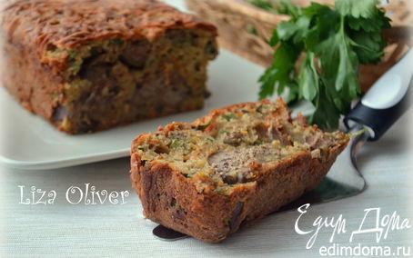 Рецепт Печеночный кекс с петрушкой на ржаной муке