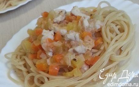 Рецепт Паста с курицей и овощами