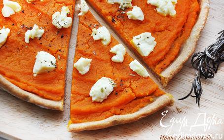 Рецепт Пицца с тыквой и козьим сыром