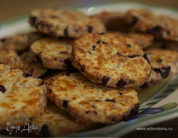 Сырное печенье с маслинами