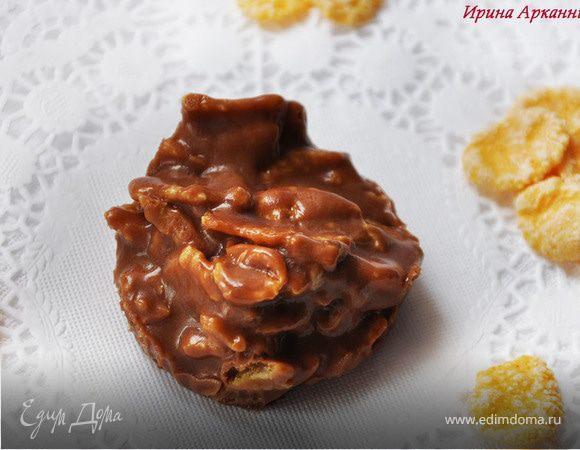 Конфеты из шоколадных батончиков c кукурузными хлопьями