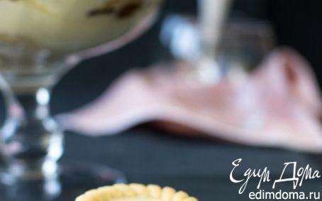 Рецепт Десерт из сливочного сыра с лимонной помадкой и печеньем