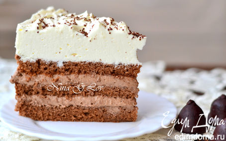 """Рецепт Шоколадный торт """"Кофе со сливками"""""""
