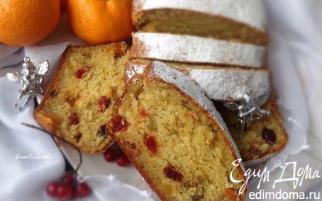Рецепт Рождественский творожный кекс с сухофруктами и апельсиновым ароматом