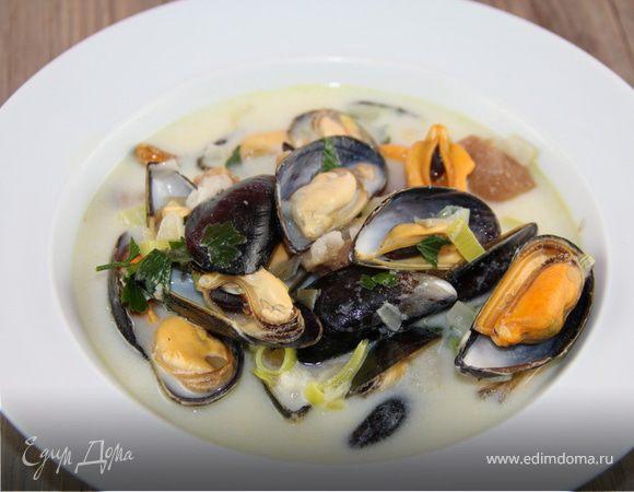 Нежный суп с мидиями по-шотландски