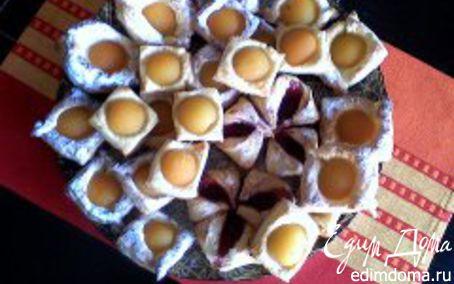 Рецепт Слойки с персиками