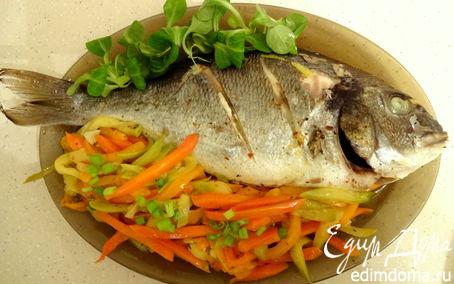 Рецепт Рыбка на овощной подушке