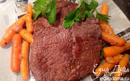Рецепт Говядина, тушенная с морковью