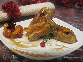 Курица с мандаринами под мандариновой глазурью