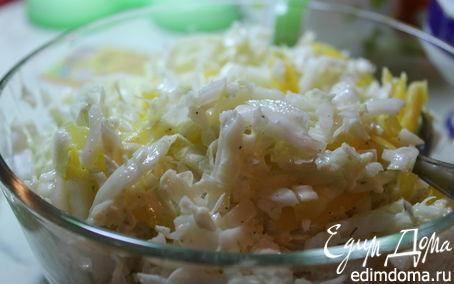 Рецепт Салат из пекинской капусты с горгонзолой и болгарским перцем