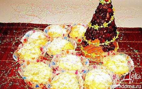 """Рецепт Ванильные пирожные с белым шоколадом и кедровыми орешками """"Розы в снегу"""""""