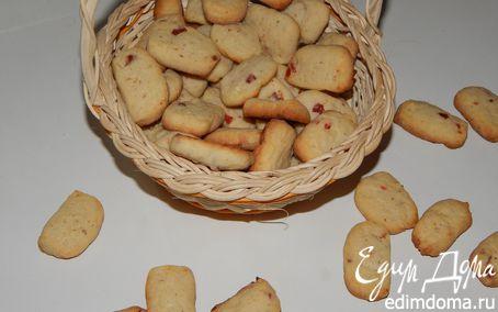 Рецепт Печенье с сушеной клубникой, вишней и миндалем