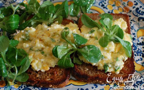 Рецепт Бутерброд с яйцом и домашним майонезом