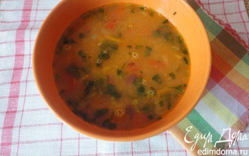Рецепт Суп из темной фасоли