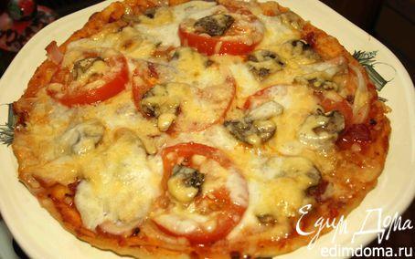 "Рецепт Пицца ""Три сыра"" с помидорами"