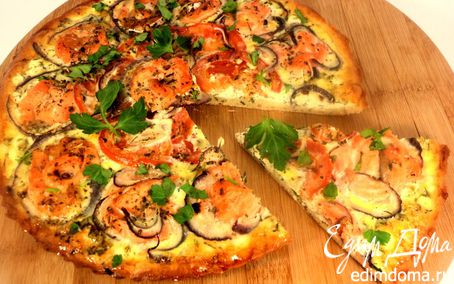 Рецепт Пицца с семгой и сливочным сыром
