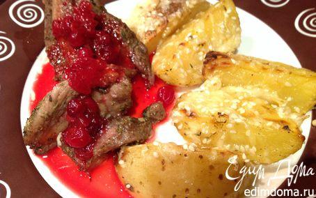 Рецепт Праздничная индейка с клюквенным соусом