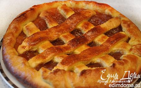 Рецепт Дрожжевой пирог с яблочным джемом