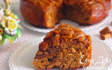 Рецепт Кофейный пирог-спираль с карамелью