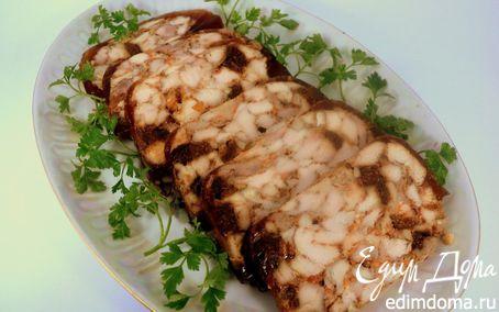 Рецепт Куриный рулет с инжиром