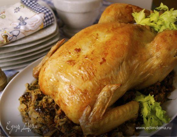 Жаркое из фаршированной курицы