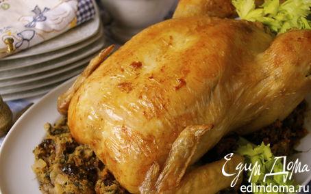 Рецепт Жаркое из фаршированной курицы