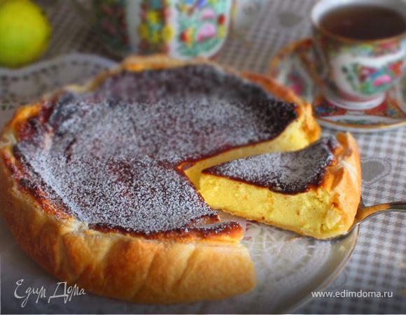Тарт с нежной творожно-ванильной начинкой
