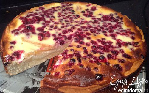 Рецепт Пирог с грушей и клюквой
