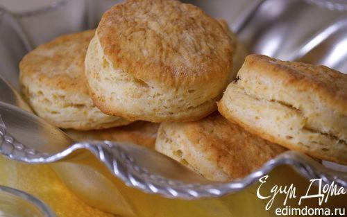 """Рецепт Слоистые булочки """"универсальные"""" (flaky buttermilk biscuits)"""