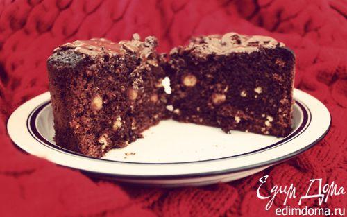 Рецепт шоколадного торта с орехами с пошагово