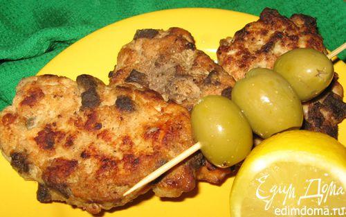 Рецепт Куриные оладьи с печенью