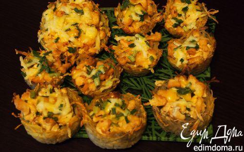 Рецепт – Картофельные корзиночки с куриным филе