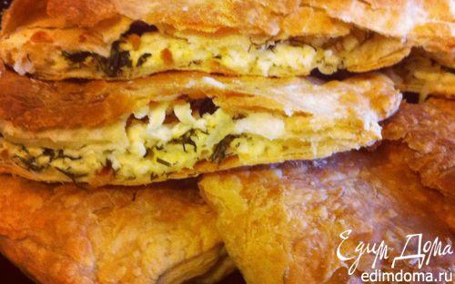 Рецепт Слоеный пирог с сыром и укропом