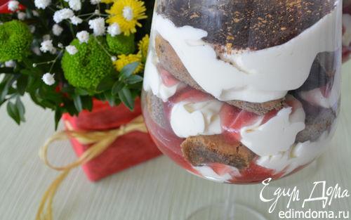 Рецепт Тирамису с малиновым сиропом