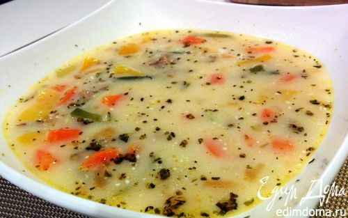 Рецепт Легкий овощной супчик с мясным фаршем