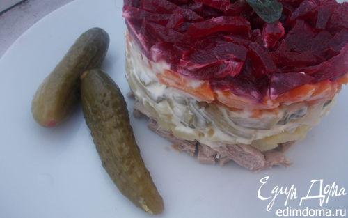 Рецепт Овощной салат с мясом