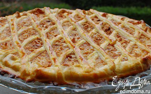 Рецепт Быстрый пирог с апельсиновым джемом, орехами и амаретти