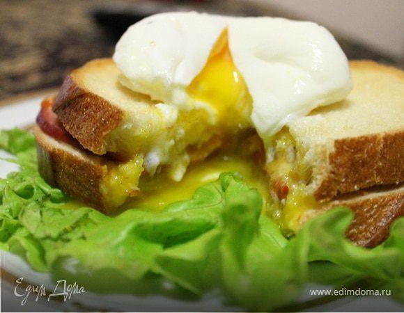 Бутерброд с яйцом пашот