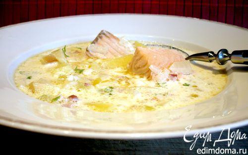 Рецепт Рыбный суп по мотивам новоанглийского клэм-чаудера «Все - за одного»