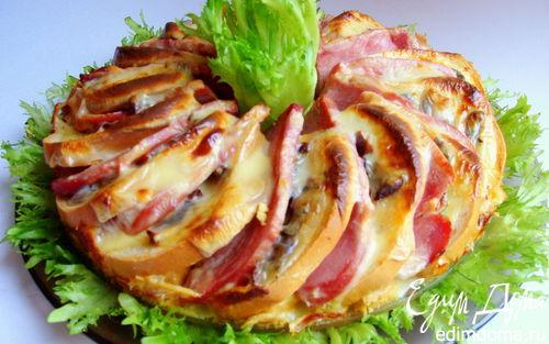 Рецепт Яичный коблер с мясом и пряными вялеными помидорками