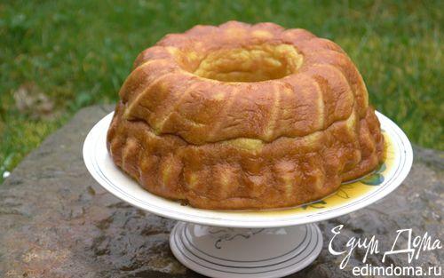 Рецепт Манный пудинг с пряным апельсиновым сиропом