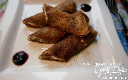 Рецепт Шоколадные блинчики со сливками и тмином