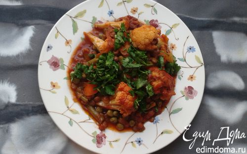 Рецепт Овощное рагу с чечевицей