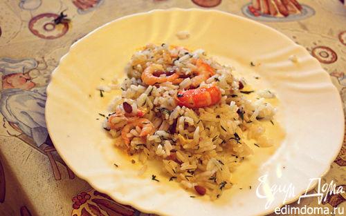 Рецепт Греческий салат из креветок с рисом