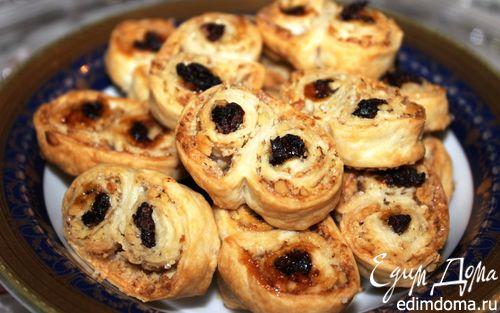 Рецепт Завитки с орехами и изюмом