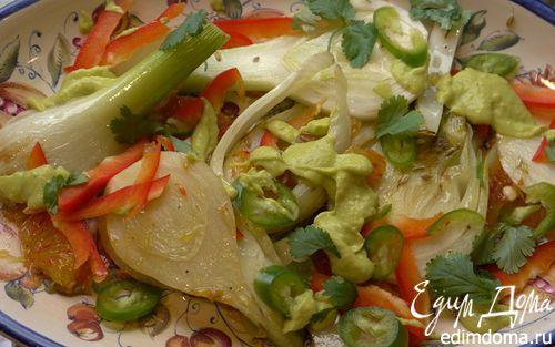 Рецепт Салат из фенхеля и апельсина с заправкой из авокадо